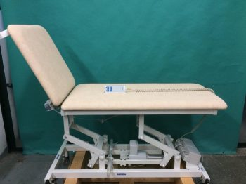 AKRON mobile treatment stretcher with electrical height adjustment, electrically