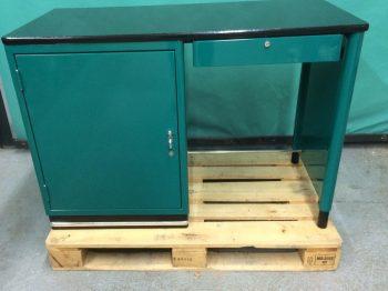BAISCH Schreibtisch mit Tür und 3 Schubladen, H83cm x B 120cm x T 60cm, moosgrün